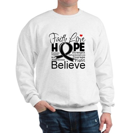 Faith Hope Melanoma Sweatshirt