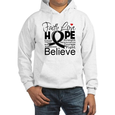 Faith Hope Melanoma Hooded Sweatshirt