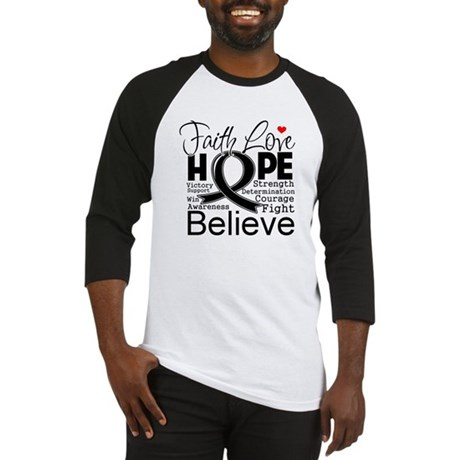 Faith Hope Melanoma Baseball Jersey