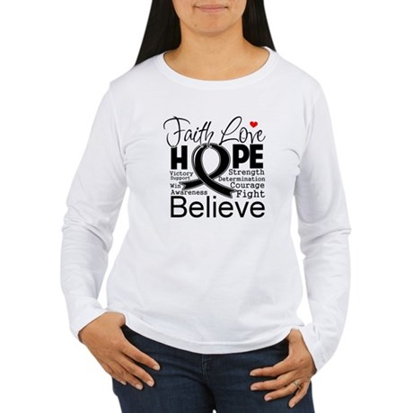 Faith Hope Melanoma Women's Long Sleeve T-Shirt