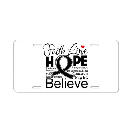 Faith Hope Melanoma Aluminum License Plate