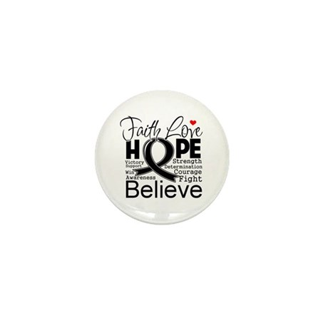 Faith Hope Melanoma Mini Button (10 pack)
