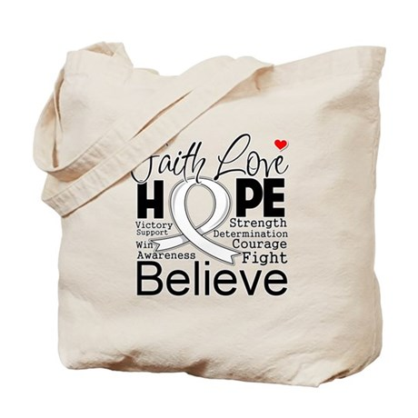 Faith Hope Mesothelioma Tote Bag