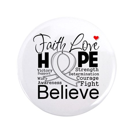 "Faith Hope Mesothelioma 3.5"" Button (100 pack)"