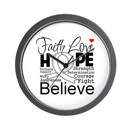 Faith Hope Mesothelioma Wall Clock
