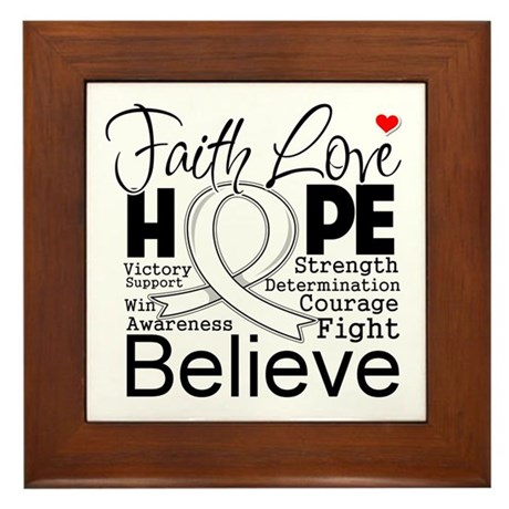 Faith Hope Mesothelioma Framed Tile