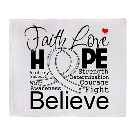 Faith Hope Mesothelioma Stadium Blanket