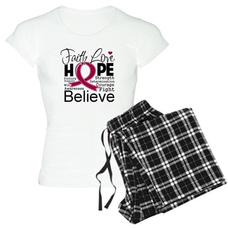 Faith Hope Multiple Myeloma Women's Light Pajamas