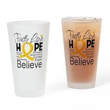 Faith Hope Neuroblastoma Drinking Glass