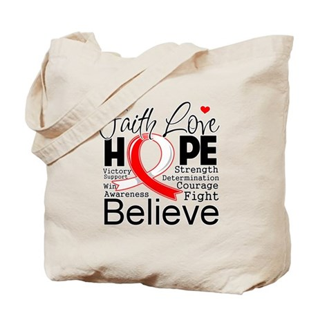 Faith Hope Oral Cancer Tote Bag