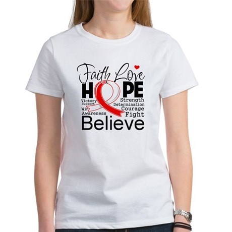 Faith Hope Oral Cancer Women's T-Shirt