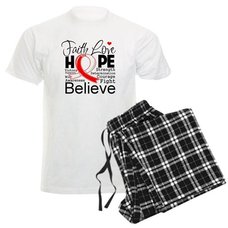Faith Hope Oral Cancer Men's Light Pajamas