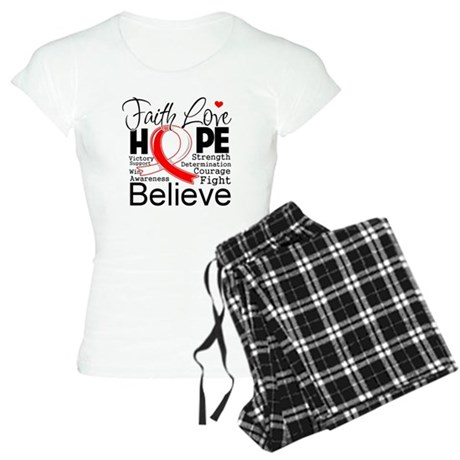 Faith Hope Oral Cancer Women's Light Pajamas