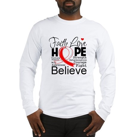 Faith Hope Oral Cancer Long Sleeve T-Shirt