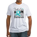 Faith Hope Ovarian Cancer Shirt