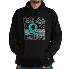 Faith Hope Ovarian Cancer Hoodie