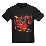 Kimberley Lassoed My Heart Kids Dark T-Shirt