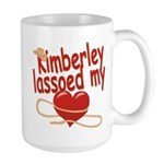 Kimberley Lassoed My Heart Large Mug