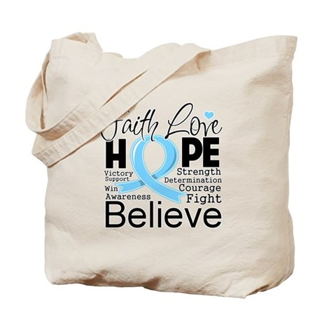 Faith Hope Prostate Cancer Tote Bag