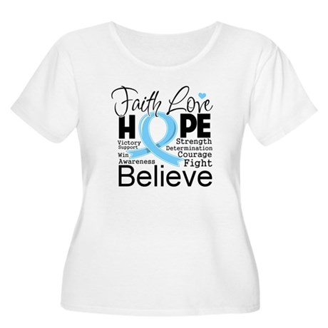 Faith Hope Prostate Cancer Women's Plus Size Scoop