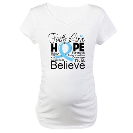 Faith Hope Prostate Cancer Maternity T-Shirt