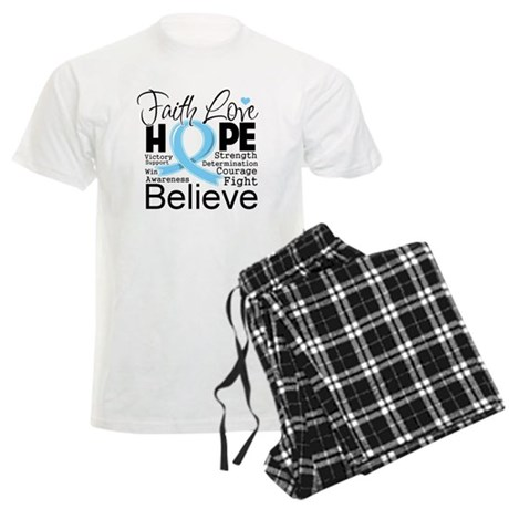 Faith Hope Prostate Cancer Men's Light Pajamas