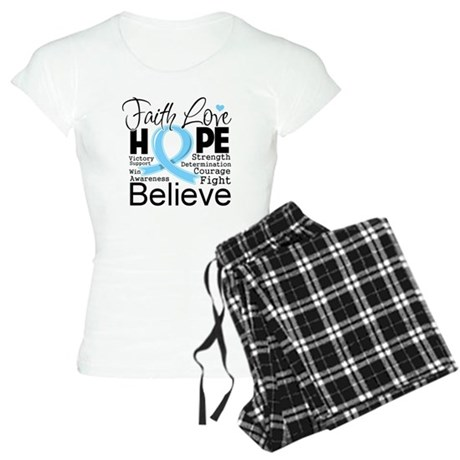 Faith Hope Prostate Cancer Women's Light Pajamas
