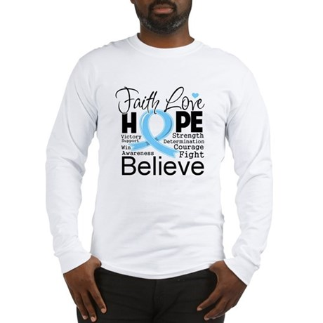 Faith Hope Prostate Cancer Long Sleeve T-Shirt