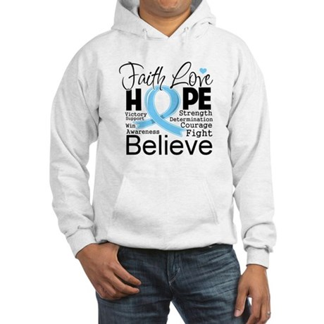 Faith Hope Prostate Cancer Hooded Sweatshirt