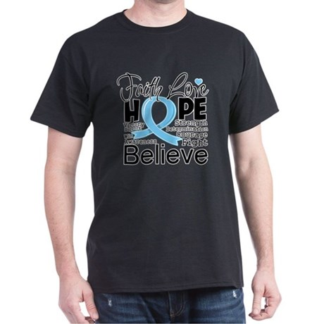 Faith Hope Prostate Cancer Dark T-Shirt