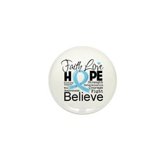 Faith Hope Prostate Cancer Mini Button (10 pack)