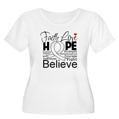 Faith Hope Retinoblastoma Women's Plus Size Scoop