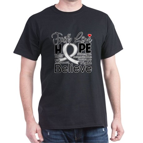 Faith Hope Retinoblastoma Dark T-Shirt