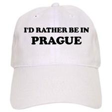 Rather be in Prague Baseball Cap
