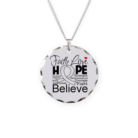 Faith Hope Retinoblastoma Necklace Circle Charm