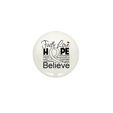 Faith Hope Retinoblastoma Mini Button