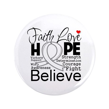 "Faith Hope Retinoblastoma 3.5"" Button"