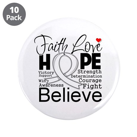 "Faith Hope Retinoblastoma 3.5"" Button (10 pack)"