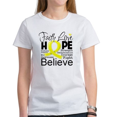 Faith Hope Sarcoma Cancer Women's T-Shirt
