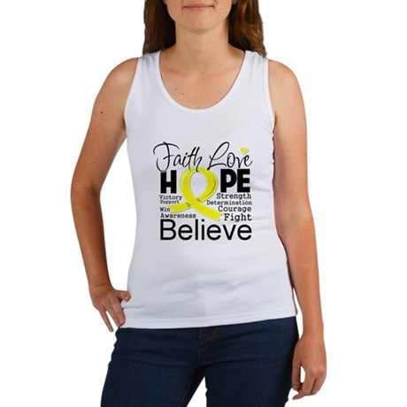 Faith Hope Sarcoma Cancer Women's Tank Top