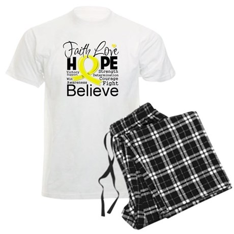 Faith Hope Sarcoma Cancer Men's Light Pajamas