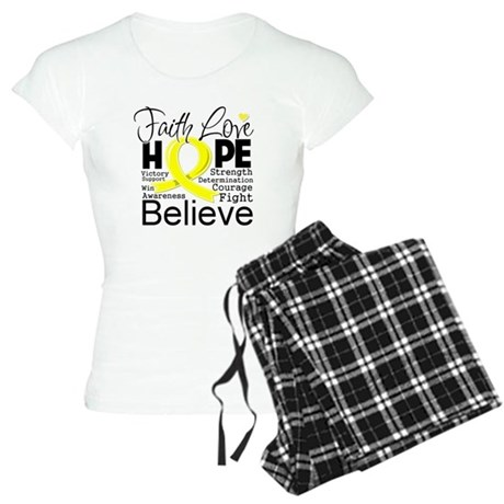 Faith Hope Sarcoma Cancer Women's Light Pajamas