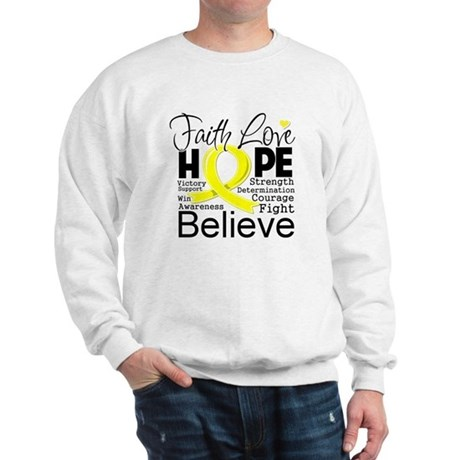 Faith Hope Sarcoma Cancer Sweatshirt