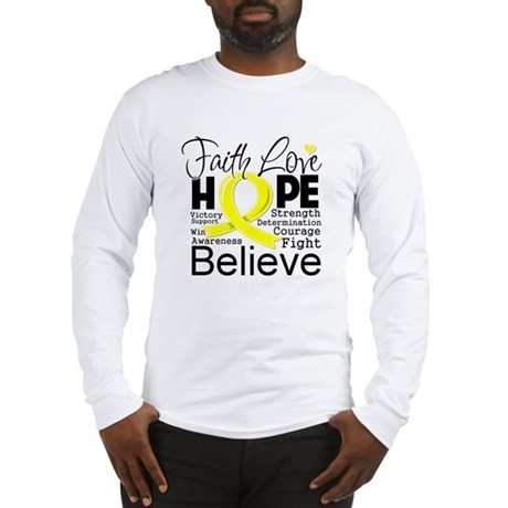 Faith Hope Sarcoma Cancer Long Sleeve T-Shirt
