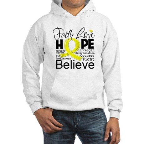 Faith Hope Sarcoma Cancer Hooded Sweatshirt