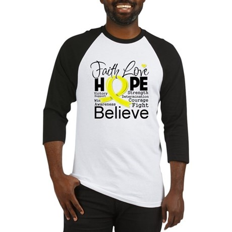 Faith Hope Sarcoma Cancer Baseball Jersey