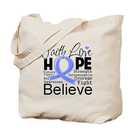 Faith Hope Stomach Cancer Tote Bag
