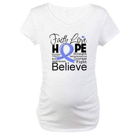 Faith Hope Stomach Cancer Maternity T-Shirt