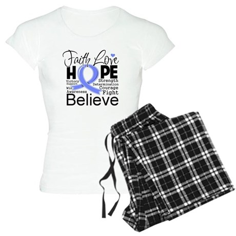 Faith Hope Stomach Cancer Women's Light Pajamas