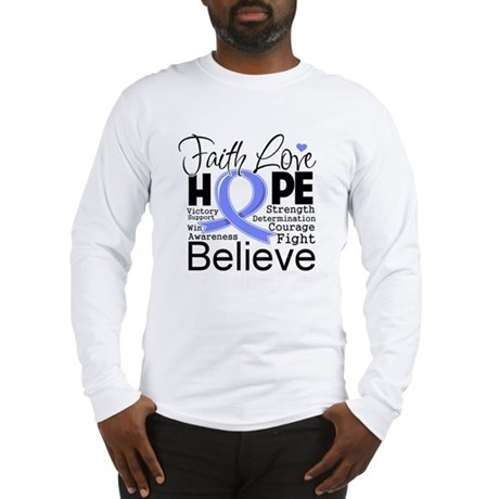 Faith Hope Stomach Cancer Long Sleeve T-Shirt